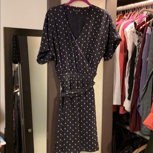 Ann Taylor navy wrap dress